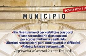 Approvato allo Camera il Decreto Enti Locali