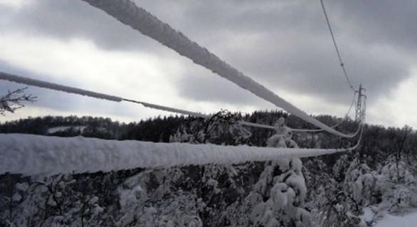 Guasti alle linee elettriche a seguito della neve