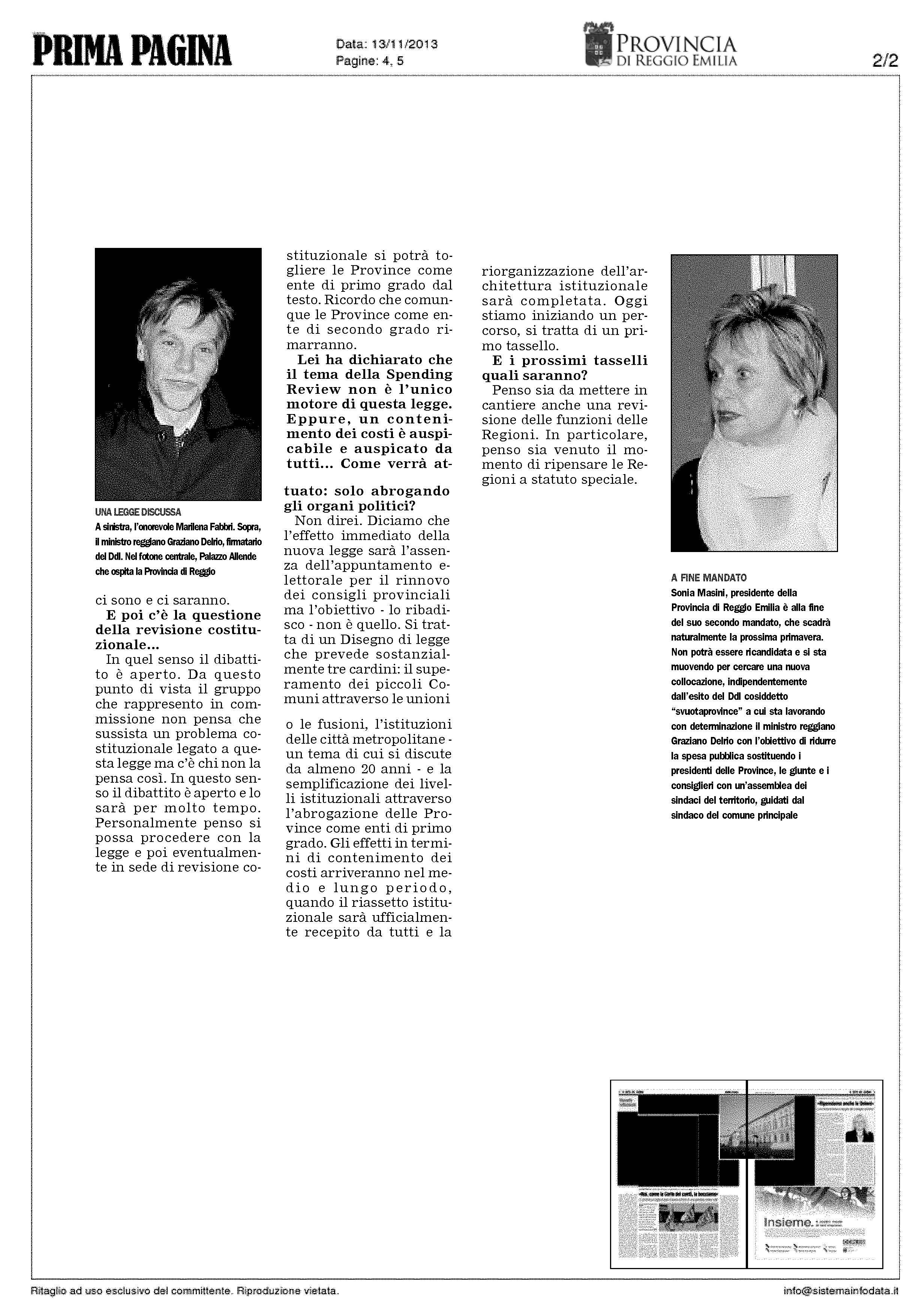 articolo Prima Pagina Reggio 15-11-2013_Pagina_2